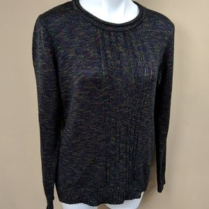 Laura Scott Flecked Cable Knit Sweater Sz XL